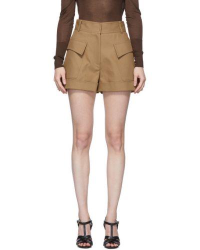 Ватные хлопковые шорты с карманами Victoria Beckham
