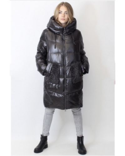Пуховик-пальто - черный Mishele