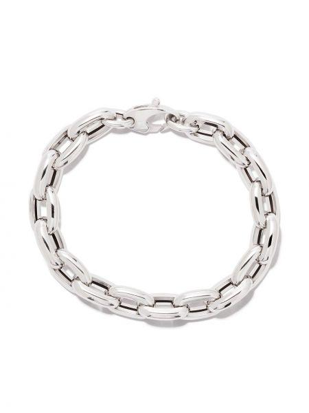 Bransoletka ze złota łańcuch ze srebra As29