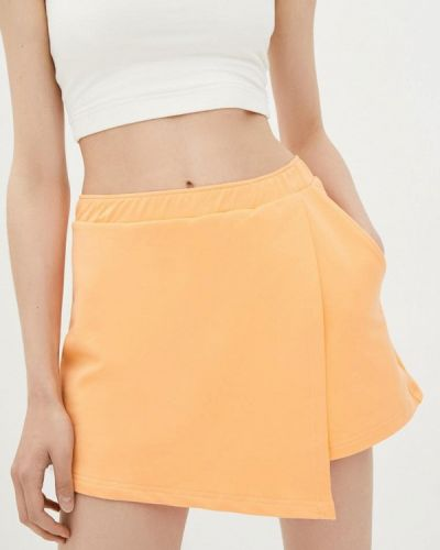 Оранжевая юбка шорты Promin