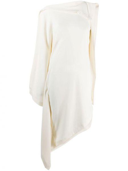 Платье миди с драпировкой с вырезом Mm6 Maison Margiela