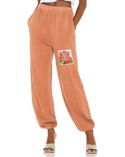 Brązowe spodnie z printem Boys Lie