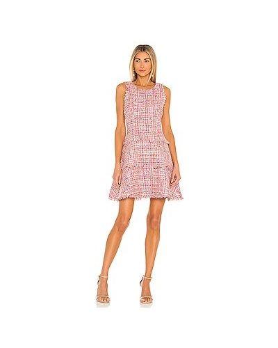 Розовое платье мини с подкладкой с бахромой Likely