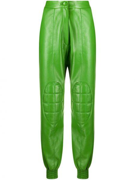 Кожаные брючные брюки с манжетами с карманами Matériel