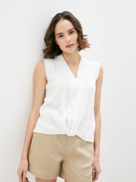 Оливковая блузка с коротким рукавом S.oliver