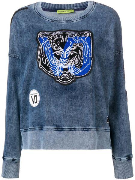 Джинсы в полоску с манжетами Versace Jeans Couture