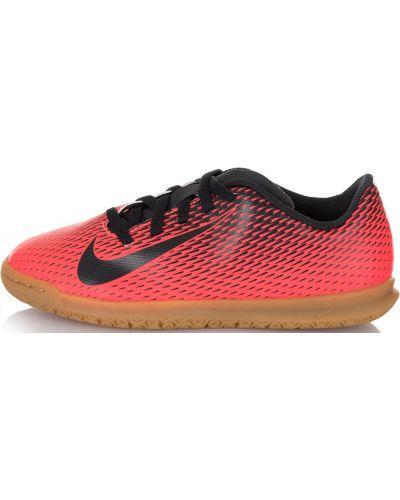 Бутсы красный футбольные Nike