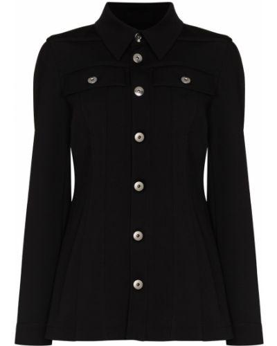 Черный пиджак классический Bottega Veneta
