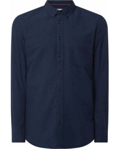 Niebieska koszula z długimi rękawami Montego