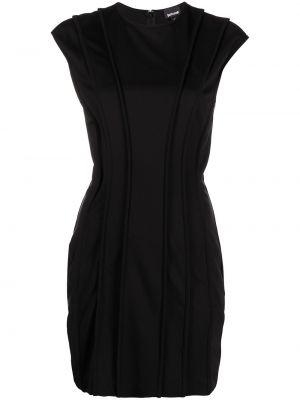 Черное платье мини с вырезом из вискозы Just Cavalli