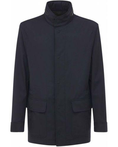 Кожаная куртка с капюшоном Brioni