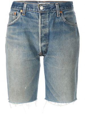 Джинсовые шорты до колена - синие Re/done