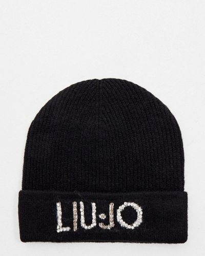 Черная зимняя шапка Liu Jo