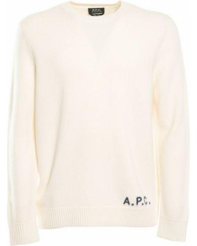Biały pulower A.p.c.