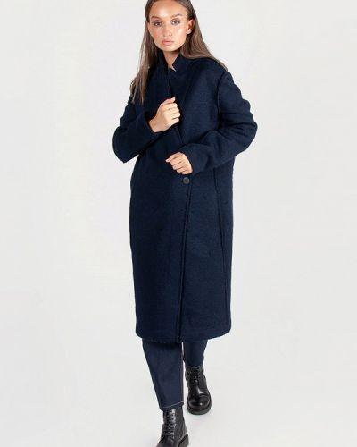 Синее пальто с капюшоном Kriza