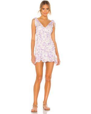 Sukienka mini z paskiem z wiskozy Majorelle