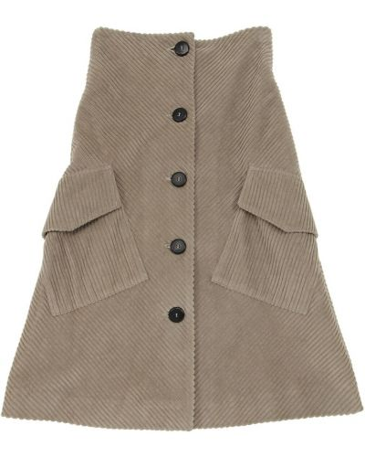 Beżowa spódnica maxi bawełniana Unlabel