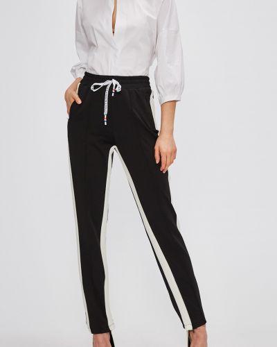Прямые черные брюки на резинке Miss Poem