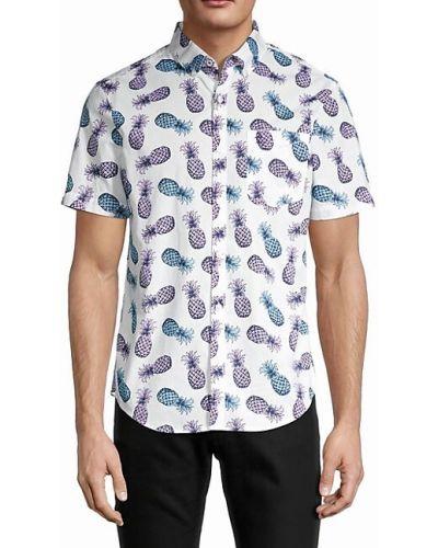 Хлопковая рубашка с короткими рукавами с воротником Original Penguin