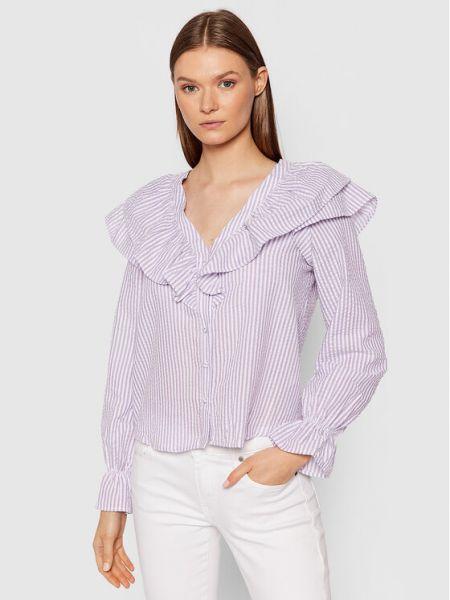 Koszula w paski w paski - fioletowa Vero Moda
