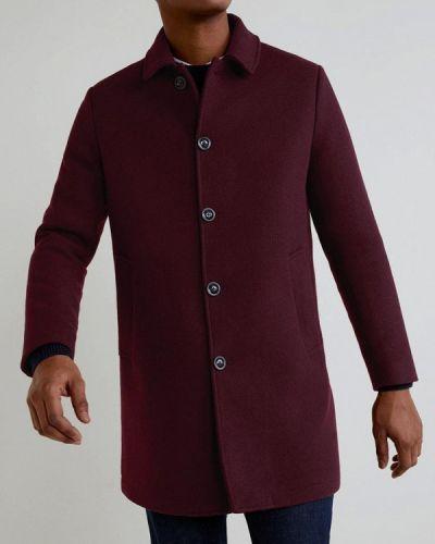 Пальто красное бордовый Mango Man