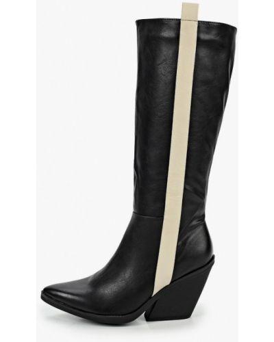 Черные кожаные сапоги Martin Pescatore