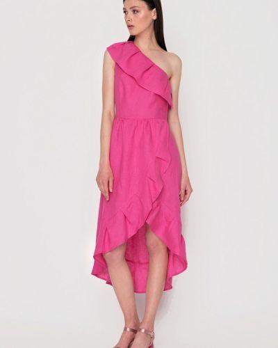 Платье миди весеннее розовое Garmoniya