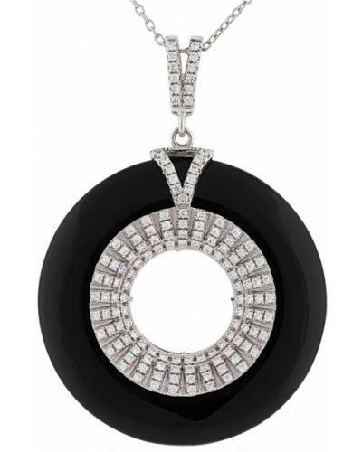 Серебряная подвеска с ониксом с бриллиантом Montebello