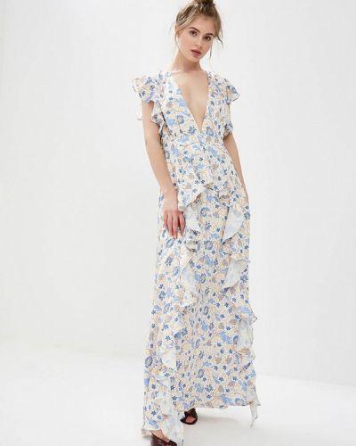 Вечернее платье весеннее бежевое Glamorous