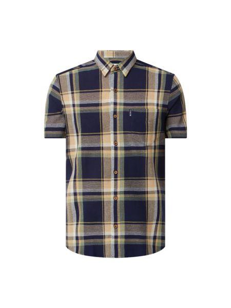 Koszula oxford w kratę bawełniana krótki rękaw Ben Sherman