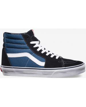 Кожаные высокие кеды - синие Vans