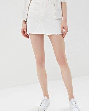 Джинсовая юбка белая Gap