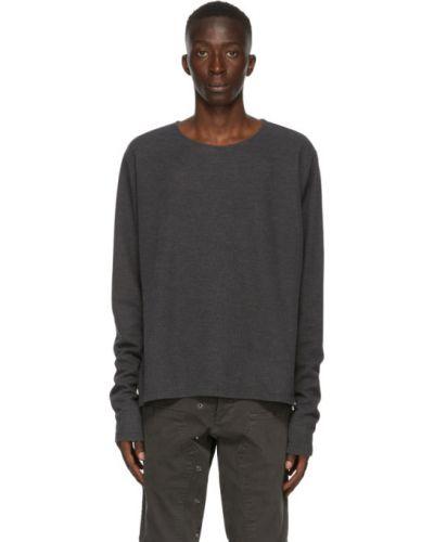 Czarna bluza z długimi rękawami bawełniana Greg Lauren