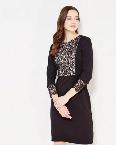 Черное платье-футляр Key