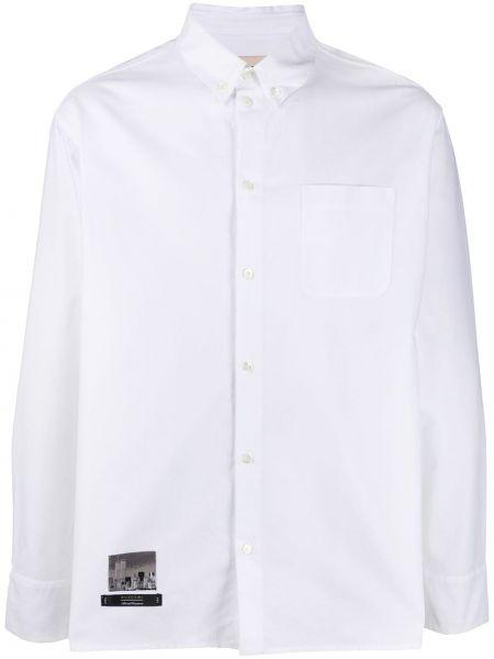 Biała koszula bawełniana z długimi rękawami Buscemi