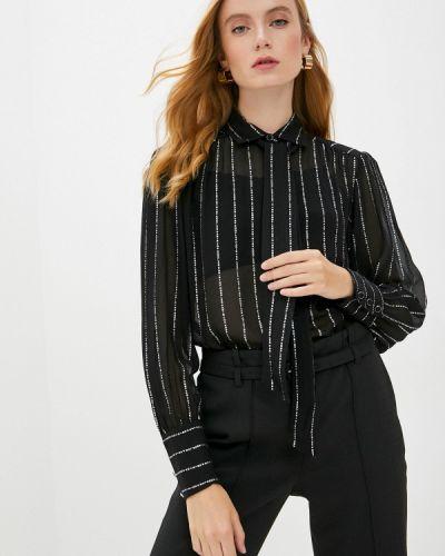 Черная блузка с бантом The Kooples