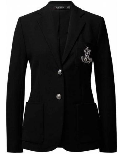 Marynarka bawełniana - czarna Lauren Ralph Lauren