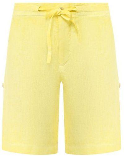 Льняные шорты - желтые 120% Lino