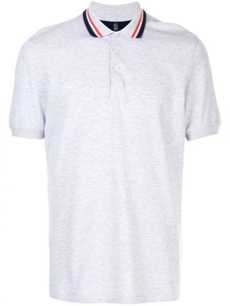 Koszula krótkie z krótkim rękawem klasyczna w paski Brunello Cucinelli
