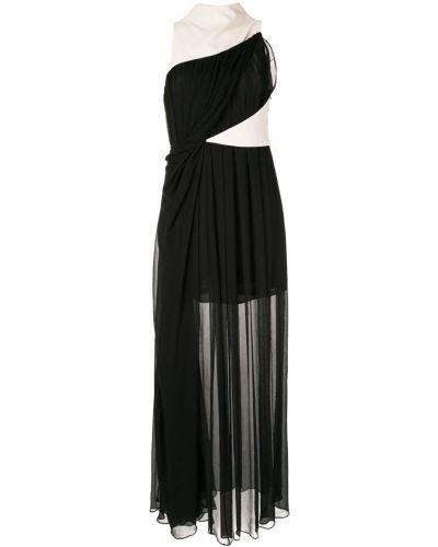 Черное приталенное вечернее платье Bianca Spender