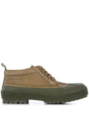 Buty sportowe skorzane - zielone Jacquemus