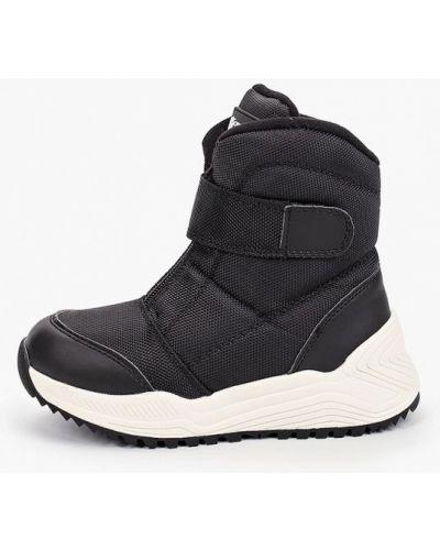 Черные кожаные дутики Crosby