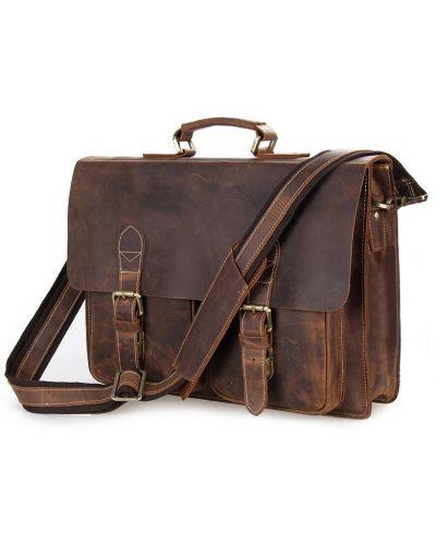 Кожаный портфель - коричневый Vintage