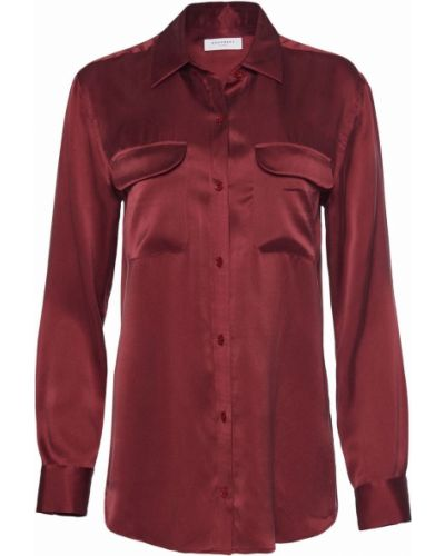 Шелковая рубашка - красная Equipment