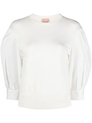 Белая блузка со вставками с вырезом Nude