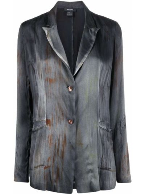 Шелковый серый пиджак с карманами Avant Toi