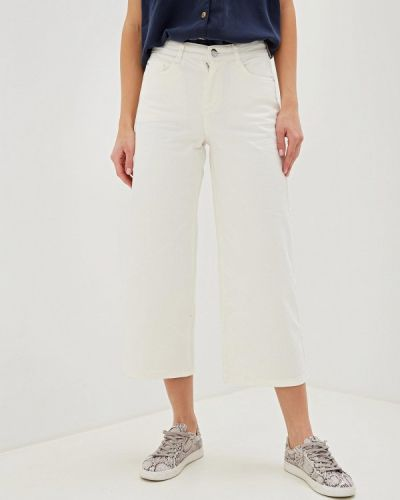 Широкие джинсы расклешенные белые Dorothy Perkins
