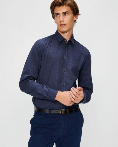 Рубашка с длинным рукавом хлопковая с узором Trussardi Jeans