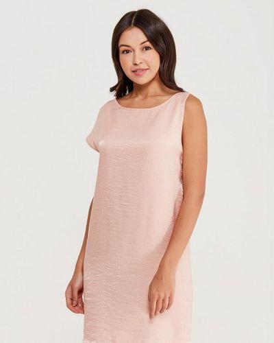 Прямое розовое платье Sisley