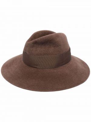 Brązowy kapelusz wełniany Borsalino